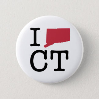 I Love Connecticut Button