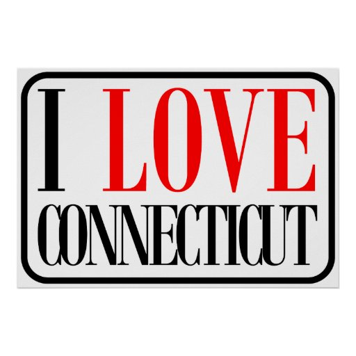 I Love Connecticut Design Poster