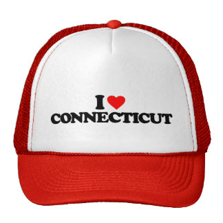 I LOVE CONNECTICUT TRUCKER HATS