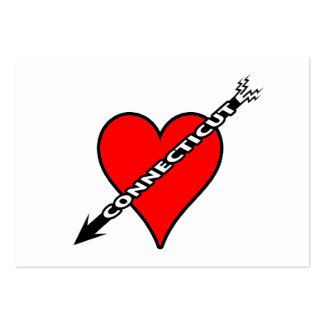 I Love Connecticut Heart Business Card Template