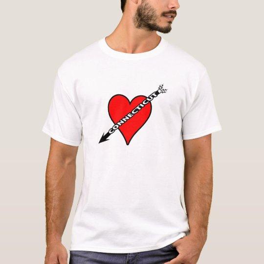 I Love Connecticut Heart T-Shirt