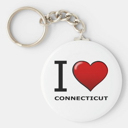 I LOVE CONNECTICUT KEY CHAINS