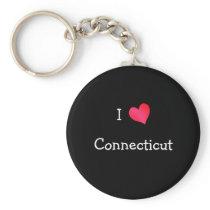 I Love Connecticut Keychain