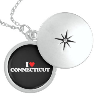 I LOVE CONNECTICUT ROUND LOCKET NECKLACE