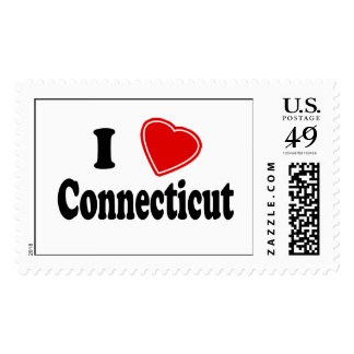 I Love Connecticut Postage Stamps