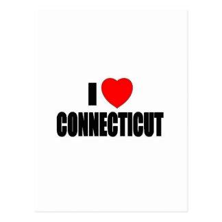 I Love Connecticut Postcard