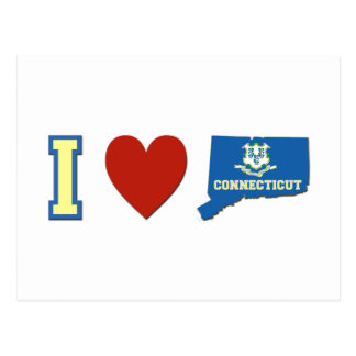 I love Connecticut Postcard