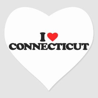I LOVE CONNECTICUT HEART STICKER