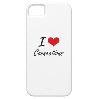 I love Connections Artistic Design iPhone 5 Cover