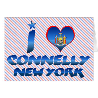 I love Connelly, New York Greeting Card