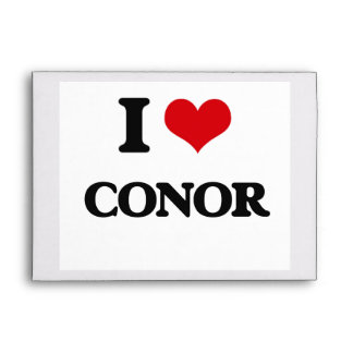 I Love Conor Envelopes