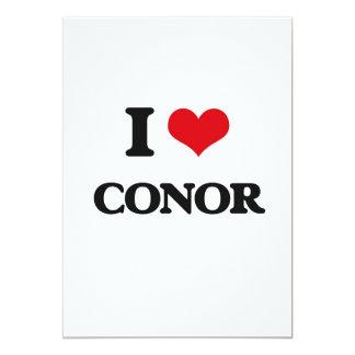 """I Love Conor 5"""" X 7"""" Invitation Card"""