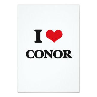 """I Love Conor 3.5"""" X 5"""" Invitation Card"""