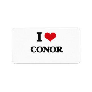 I Love Conor Address Label