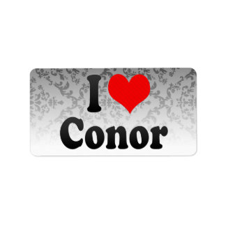 I love Conor Personalized Address Labels