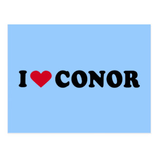 I LOVE CONOR POSTCARD