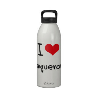 I love Conquerors Water Bottle