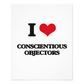 I love Conscientious Objectors Flyer Design