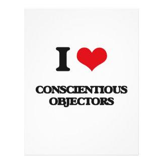 I love Conscientious Objectors Full Color Flyer