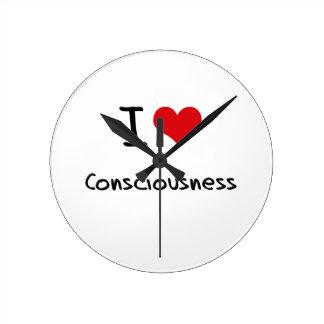 I love Consciousness Wall Clock