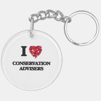 I love Conservation Advisers Double-Sided Round Acrylic Keychain