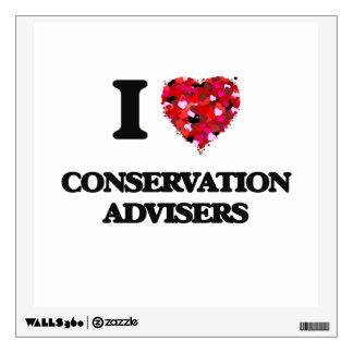 I love Conservation Advisers Room Sticker