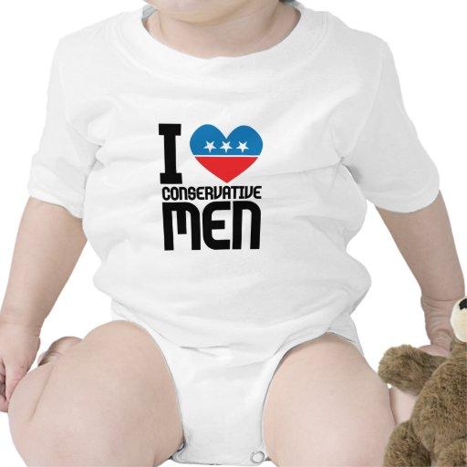 I Love Conservative Men Tee Shirts