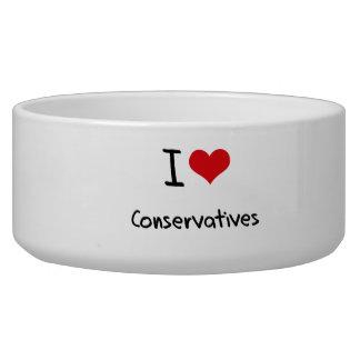 I love Conservatives Dog Bowl