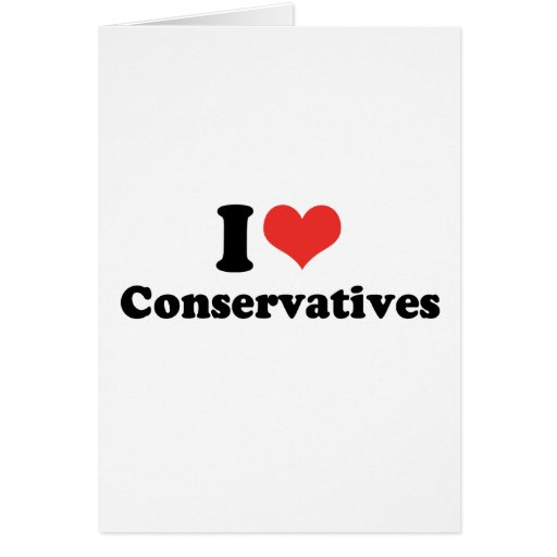 I LOVE CONSERVATIVES - .png Cards