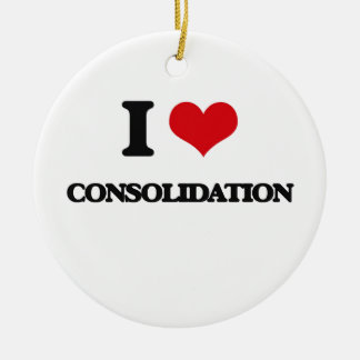 I love Consolidation Christmas Ornament