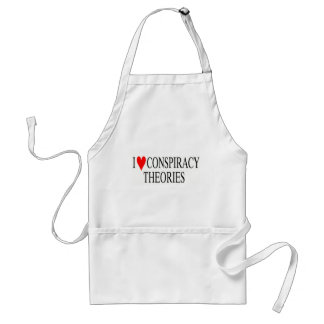 I Love Conspiracy Theories Adult Apron