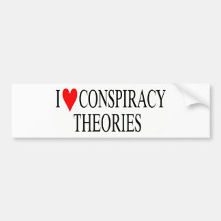 I Love Conspiracy Theories Bumper Sticker