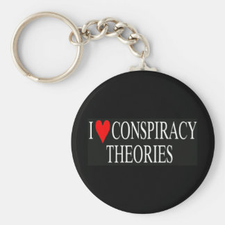 I Love Conspiracy Theories Keychain