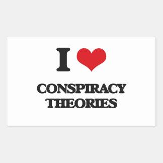 I love Conspiracy Theories Rectangular Stickers