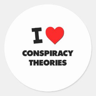 I love Conspiracy Theories Round Sticker