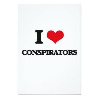 I love Conspirators 3.5x5 Paper Invitation Card
