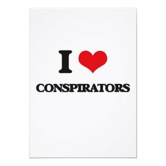 I love Conspirators 5x7 Paper Invitation Card