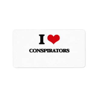 I love Conspirators Address Label