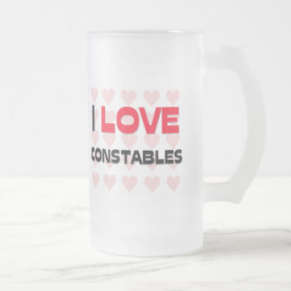 I LOVE CONSTABLES 16 OZ FROSTED GLASS BEER MUG