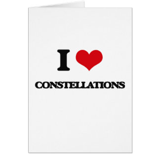 I love Constellations Card