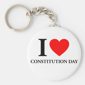 I Love Constitution Day Keychain