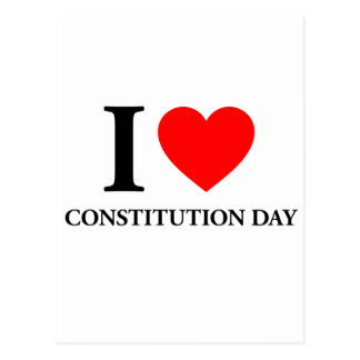 I Love Constitution Day Postcard