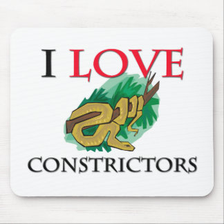 I Love Constrictors Mouse Mats