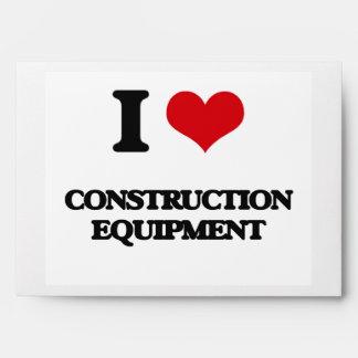 I love Construction Equipment Envelopes