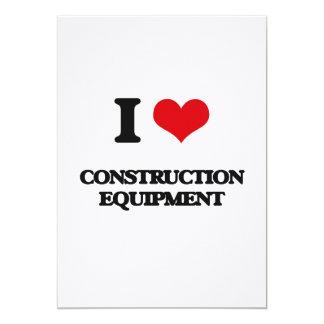 I love Construction Equipment 5x7 Paper Invitation Card