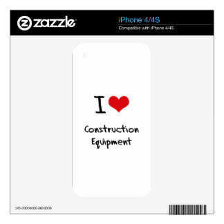 I love Construction Equipment iPhone 4 Decal
