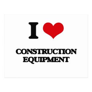 I love Construction Equipment Postcard