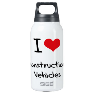 I love Construction Vehicles 10 Oz Insulated SIGG Thermos Water Bottle