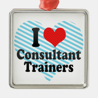 I Love Consultant Trainers Christmas Tree Ornaments