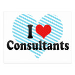 I Love Consultants Post Cards